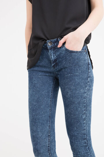 Skinny fit, faded-effect jeans, Dark Blue, hi-res