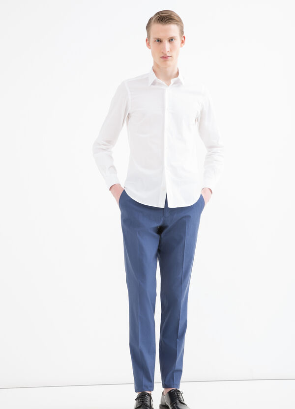 Cotton, regular-fit trousers | OVS