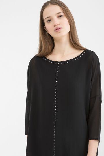 Diamanté blouse, Black, hi-res