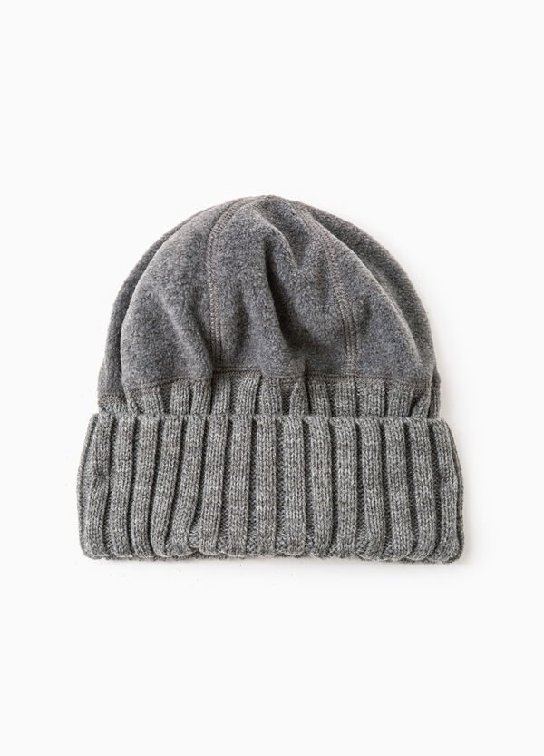 Knitted and fleece beanie cap | OVS