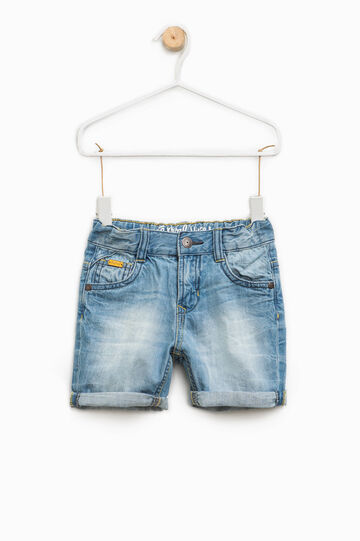 Bermuda di jeans vita elasticata