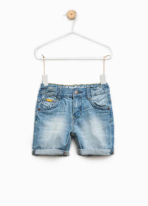 Denim Bermuda shorts with elasticated waistband | OVS