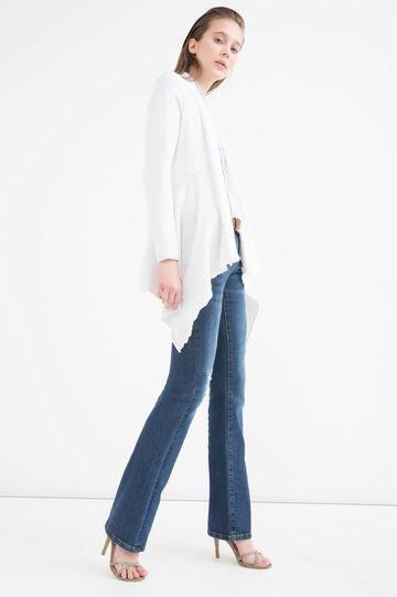 Cotton cardigan with shawl neck