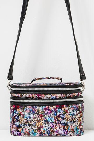 Patterned vanity case with shoulder strap, Multicolour, hi-res
