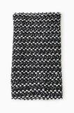 Patterned knit neck warmer, Black/White, hi-res