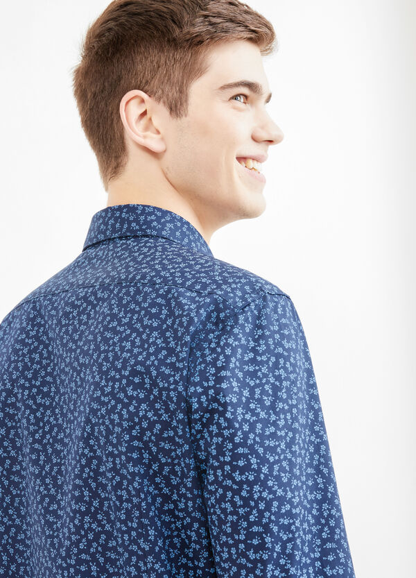 Camicia casual cotone fantasia floreale | OVS