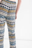 Patterned trousers with drawstring, White/Blue, hi-res