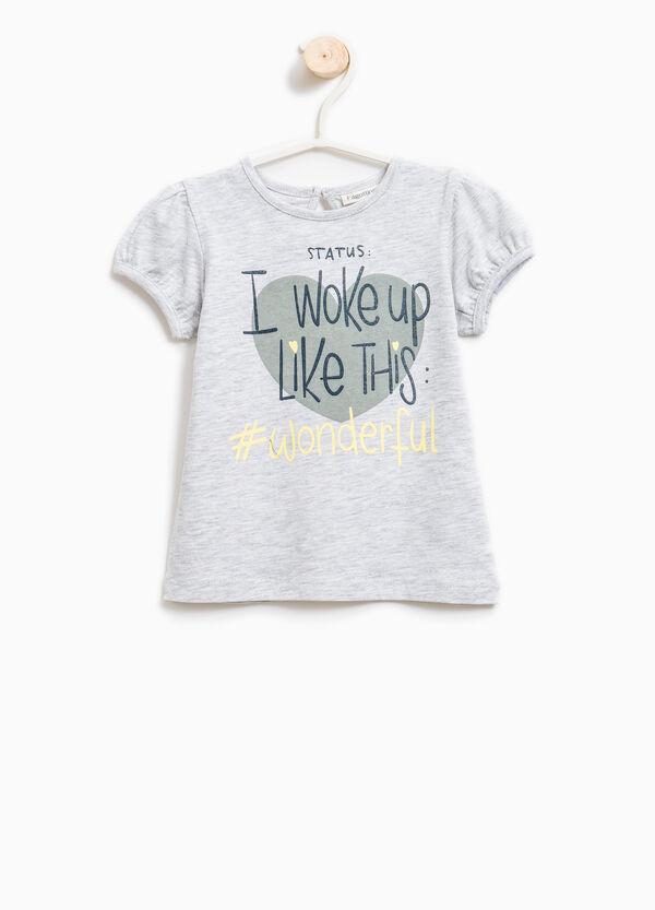 Camiseta elástica con motivo de texto | OVS
