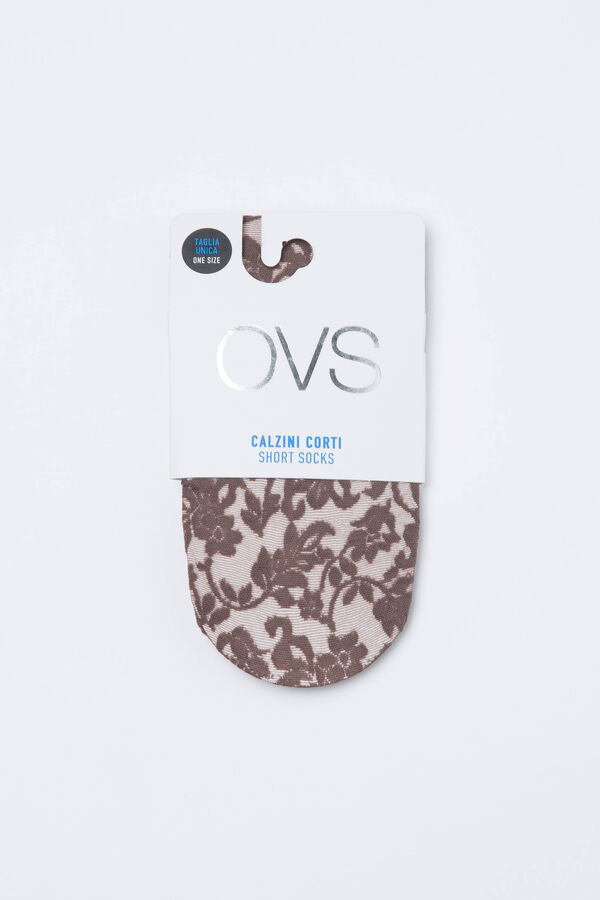 Short stretch pop sock with lace | OVS