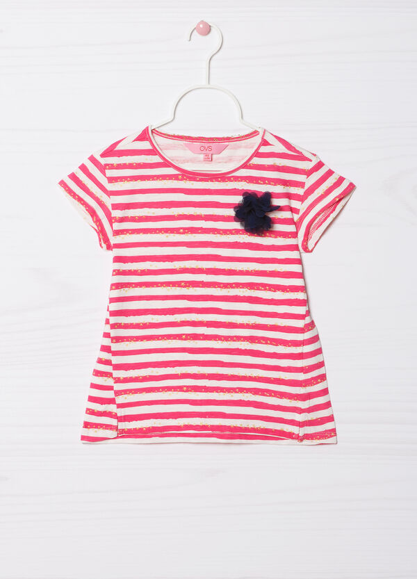 T-shirt puro cotone stampa glitter | OVS