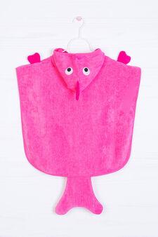 Accappatoio mantella puro cotone, Rosa corallo, hi-res