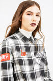Check cotton shirt with patches, White/Black, hi-res