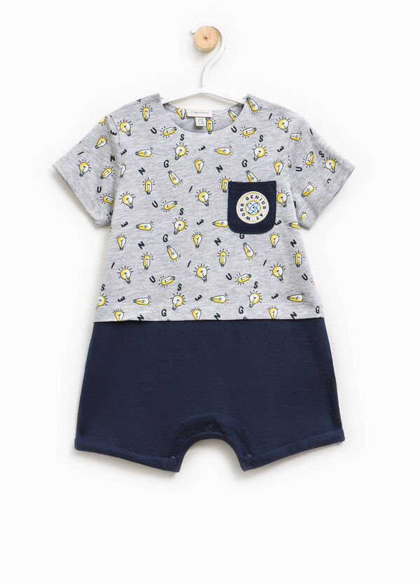 Patterned cotton sleepsuit | OVS