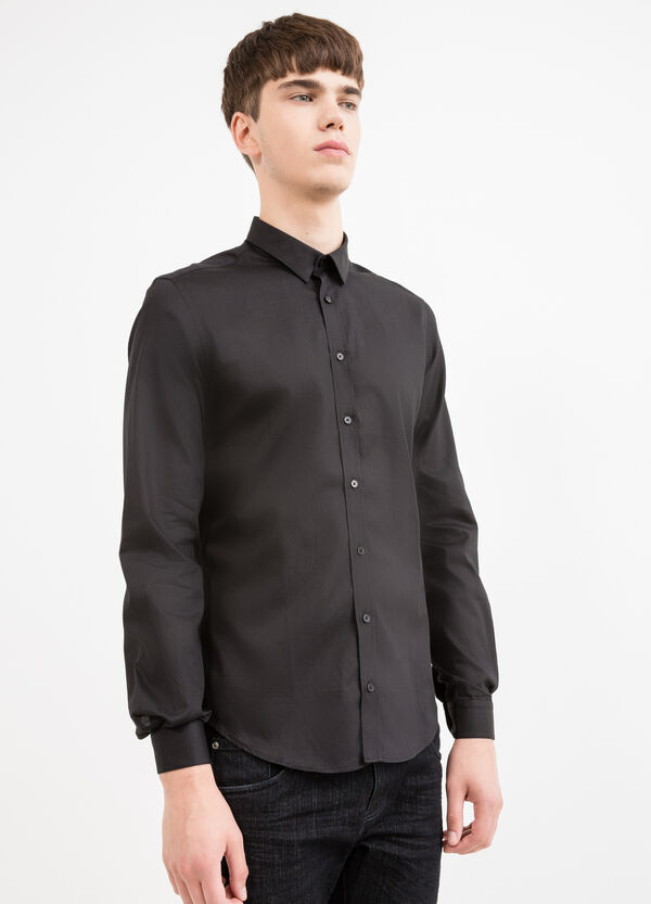 Custom-fit formal shirt in 100% cotton | OVS