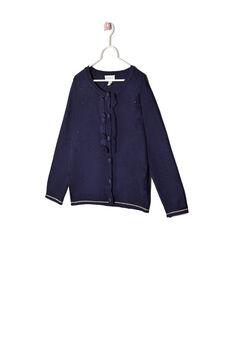 Viscose blend cardigan, Navy Blue, hi-res