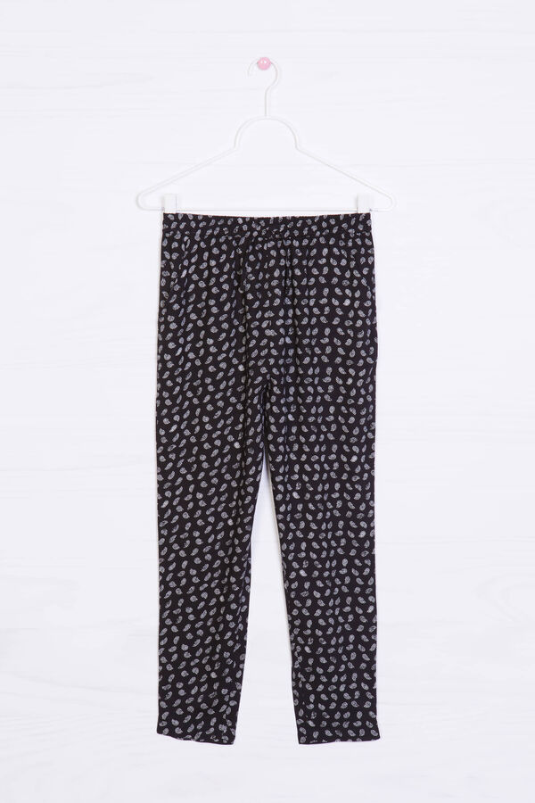 Viscose trousers with all-over print | OVS