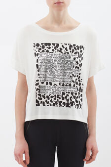 T-shirt sportiva pura viscosa, Bianco, hi-res