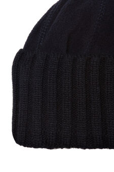 Beanie cap in fleece, Navy Blue, hi-res