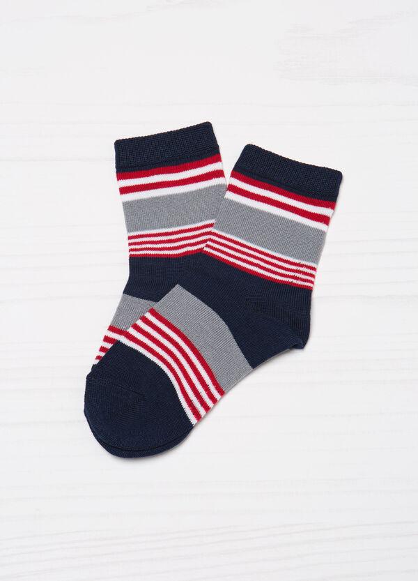 Three-pair pack short cotton stretch socks | OVS