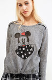 Stretch cotton sweatshirt with Minnie Mouse print, Grey Marl, hi-res