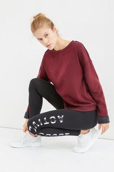 OVS Active Sport Training sweatshirt, Claret Red, hi-res