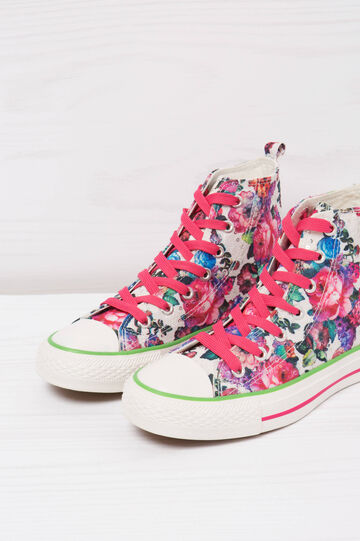 Floral print high-top sneakers