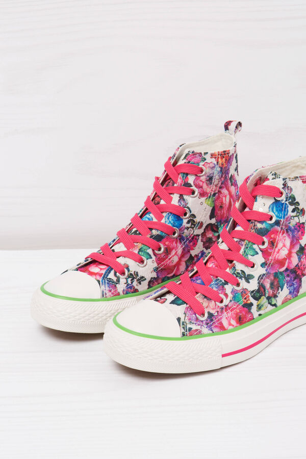 Floral print high-top sneakers | OVS