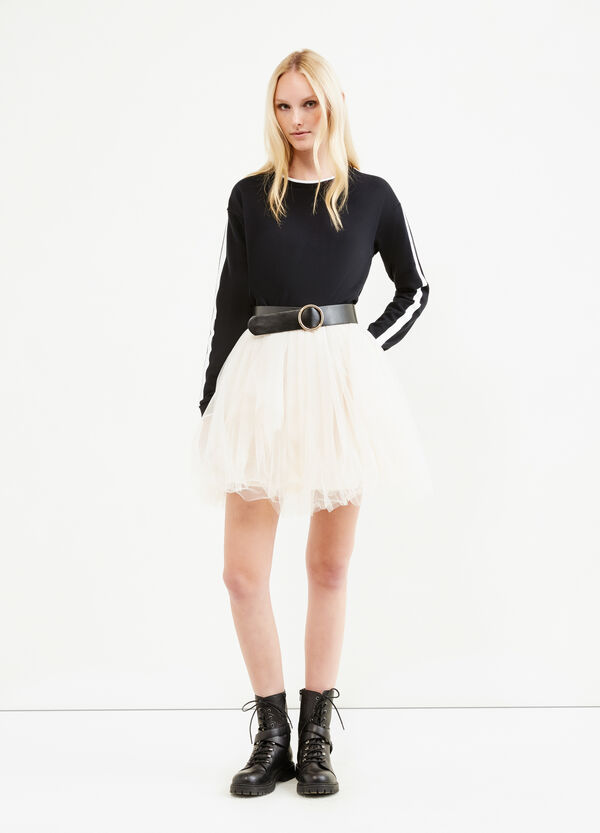 Solid colour short skirt in tulle | OVS