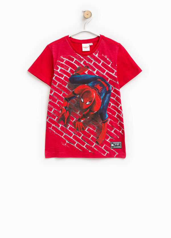 Cotton T-shirt with Spiderman print | OVS
