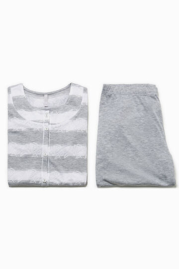 Striped top and trousers pyjama set