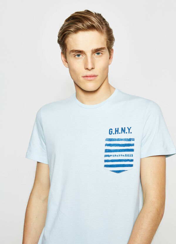 G&H t-shirt with striped pocket | OVS