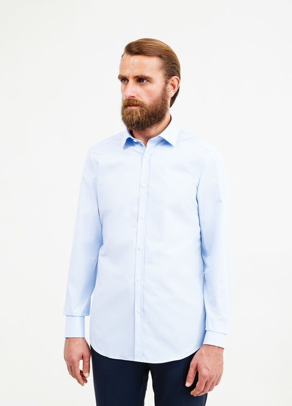 Slim-fit patterned formal shirt | OVS