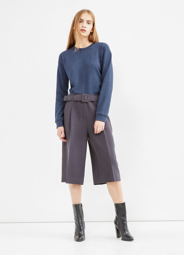 Gaucho trousers with belt | OVS