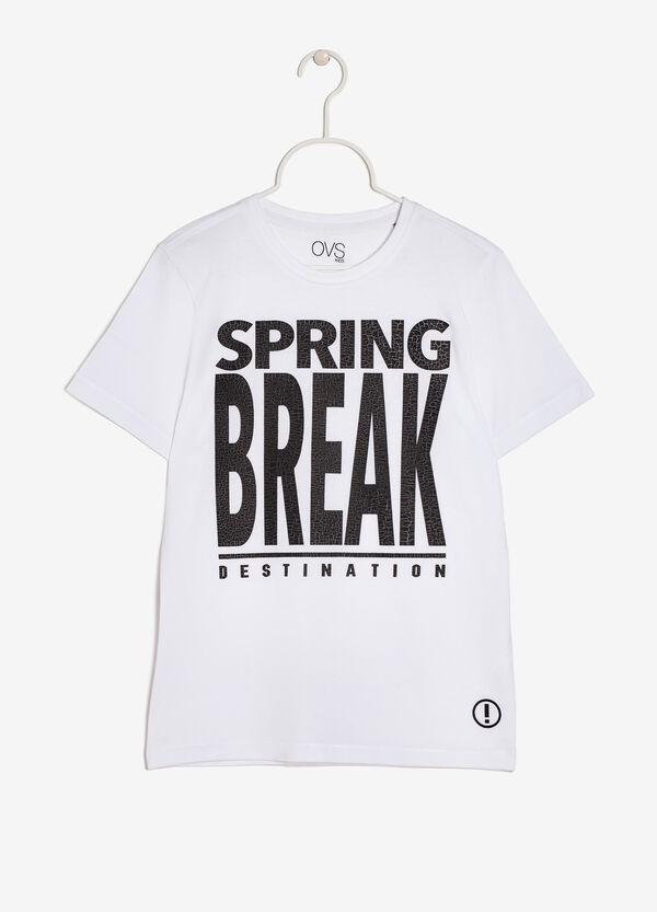 Crew neck T-shirt with a print | OVS