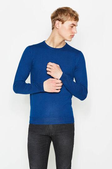 Round neck pullover, Ocean Blue, hi-res