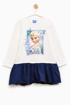 Frozen stretch cotton dress, White/Blue, hi-res