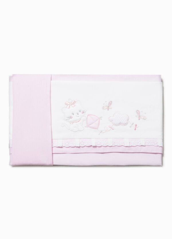 Bed sheet with patch and lace | OVS