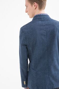 Rumford stretch cotton jacket, Blue, hi-res