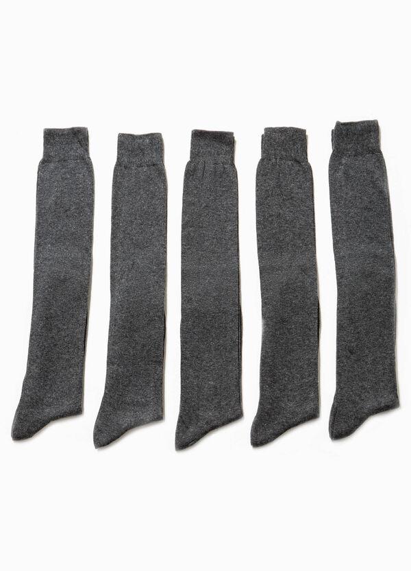 Five-pair pack long socks | OVS