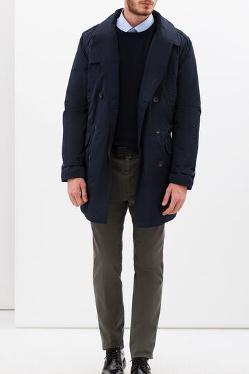 Double-breasted jacket with bluff collar, Navy Blue, hi-res
