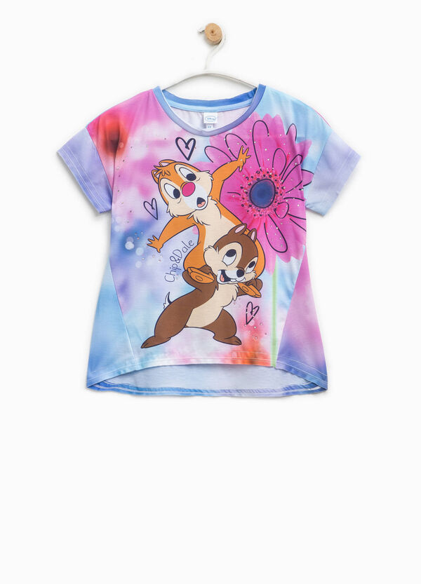 T-shirt with Chip 'n' Dale print and diamantés | OVS