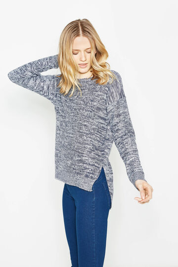 Pullover with boat neck