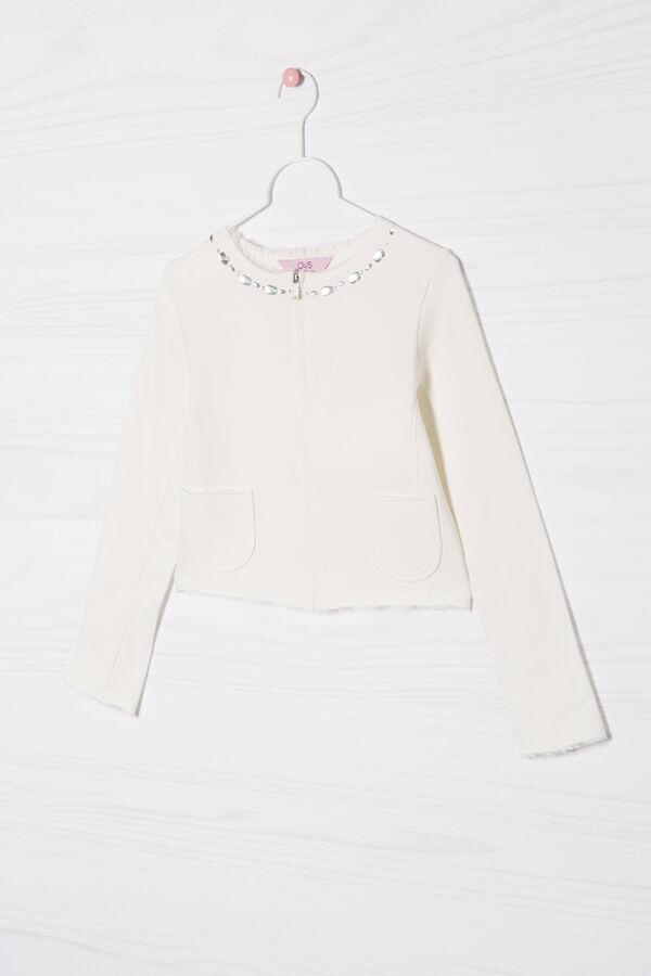Jacket in stretch cotton fleece | OVS