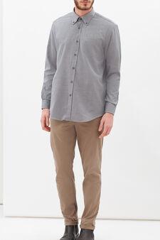 Regular-fit patterned shirt, Grey, hi-res