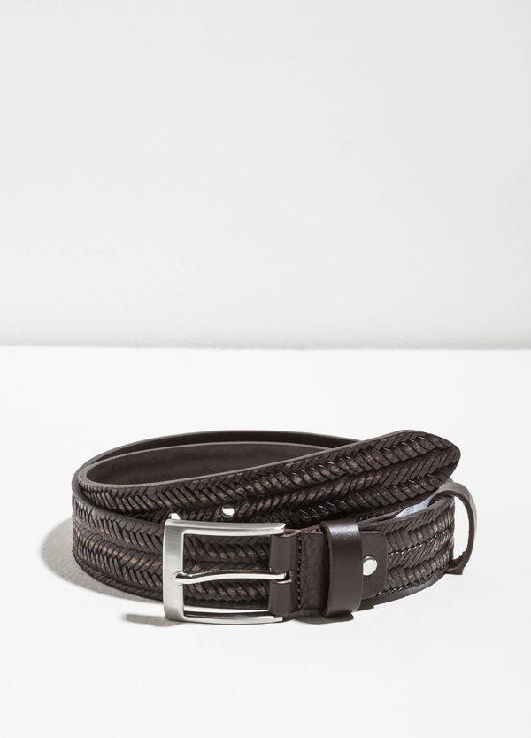 Cintura vera pelle intrecciata | OVS