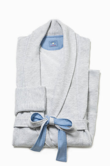Cotton dressing gown with pockets