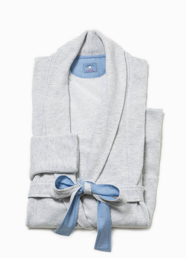 Cotton dressing gown with pockets | OVS