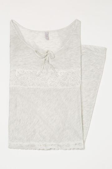 Mélange viscose nightdress, Grey Marl, hi-res