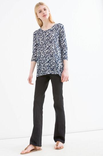 T-shirt pura viscosa floreale