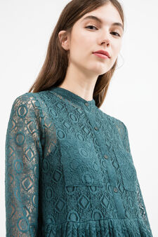 Lined dress with long sleeves, Teal Green, hi-res